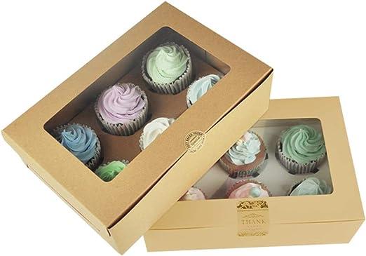 Cajas para cupcakes y pasteles de panadería, caja para galletas de ...