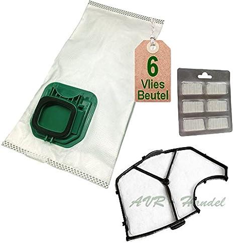 6 bolsas de aspiradora tipo VS 145, filtro de protección del motor ...