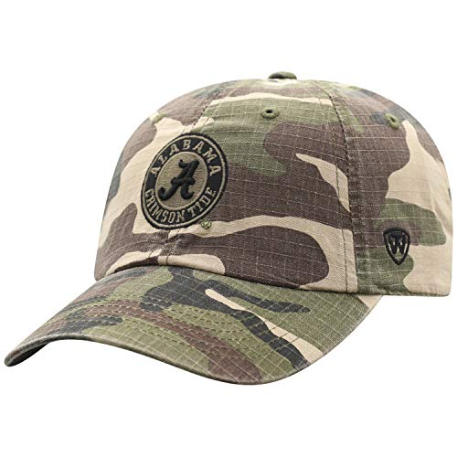 Top of the World Alabama Crimson Tide Men's Camo Hat Icon, Camo, Adjustable