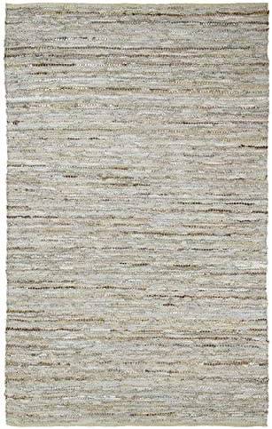 SUPERIOR Monett Hand-Crafted Leather and Cotton Indoor Area Rug