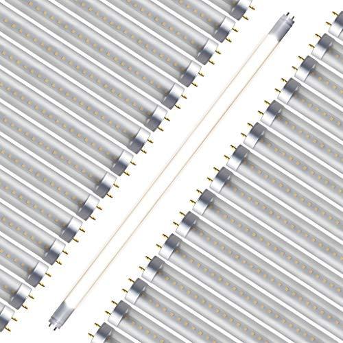 T8, T10, T12, 4FT Type A & B LED Tube Light Clear Lens (30 PACK) 18W; 120V-277V; 2550 Lumens (Soft White 3500K)