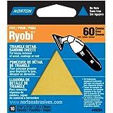 Norton 07660749284 Adhesive Backed Triangle Sanding Sheet for Ryobi Sander, P60 Grit, Coarse Grade (Pack of 10)