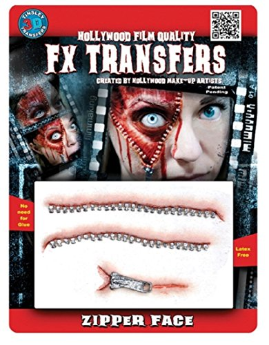 Tinsley Transfers  Zipper Face, Flesh/Multi, One Size ()