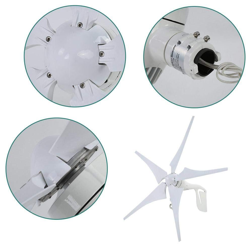 Generatore eolico a turbina 12V generatore a mulino a vento 600W 12V//24V Home//Campeggio Generatore eolico a cinque pale