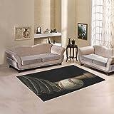 D-Story Floor Decor Vintage Grunge Effect Low Key Baseball Bat Area Rug Carpet Floor Rug 5'3''x4' For Living Room Bedroom