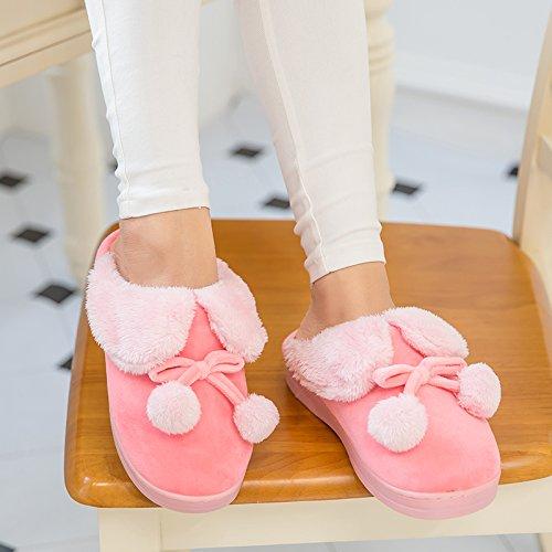 Autunno Inverno paio di scarpe di cotone arredamento, caldo antiscivolo impermeabile pantofole scarpe spessa sulla femmina panno morbido scarpe codice ,4243, grigio