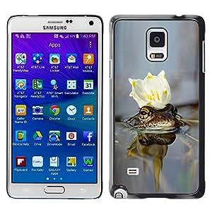 LECELL -- Funda protectora / Cubierta / Piel For Samsung Galaxy Note 4 SM-N910F SM-N910K SM-N910C SM-N910W8 SM-N910U SM-N910 -- cvetok korona voda --