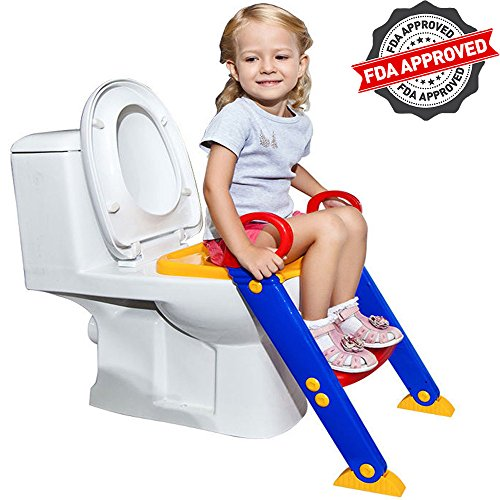 FLASH SALE | Potty Toilet Seat with Step Stool Ladder | Portable Trainer for Kids with Handles, Sturdy and Safe | Best Age is 1, 2, 3 and 4 Year Old Boys and Girls - Potty Trainer Seat