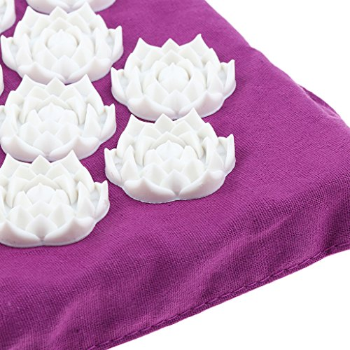 MagiDeal Acupressure Mat Neck Body Muscle Stress Meditation Yoga Massager Mat - Purple by Unknown (Image #4)