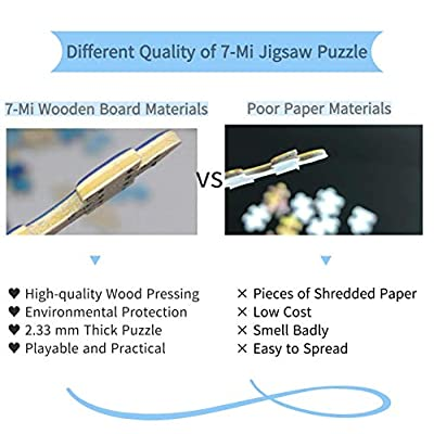 Jigsaw Puzzle 1000 Piece Wooden Jigsaw Wooden Jigsaw - - Puzzle Game Artwork for Adults Teens Kids 30X20 Inch: Toys & Games