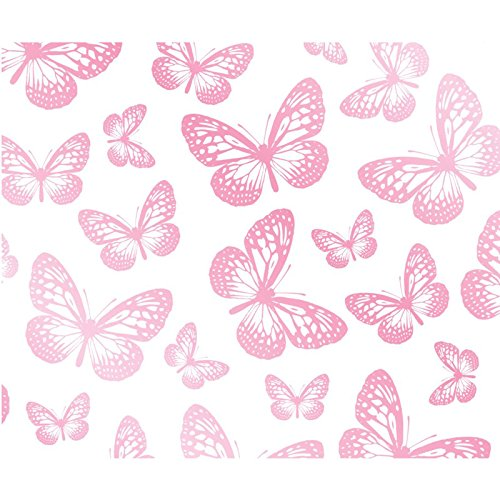 (Butterfly Wallpaper White and Pink (FD40275))