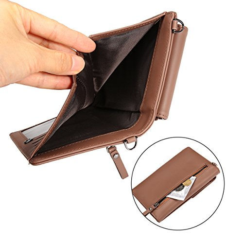 Women Purse Wallet Mini OURBAG Pink Stylish Shoulder Coin Leather Small Bag Bag Phone Bag Cute Travel Brown Clutch 0w85x8f