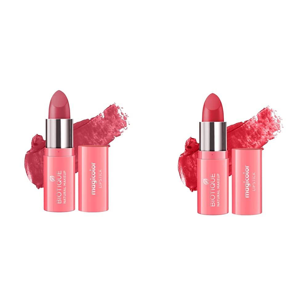 Biotique Natural Makeup Magicolor Lipstick -Pack of 2