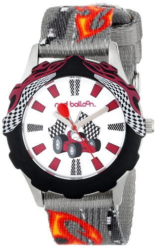 Price comparison product image Red Balloon Kids' W000343 Speed Racing Tween Stainless Steel Printed Bezel Printed Strap Watch