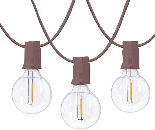25 x G40 Bulbs String Lights Waterproof Garden Xmas Festoon Outdoor Globe String