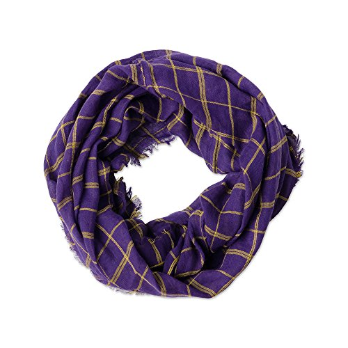 Game Day Sports Team Apparel Scarf or Wrap, Check Plaid Infinity/16x63, 16 x 63 ()