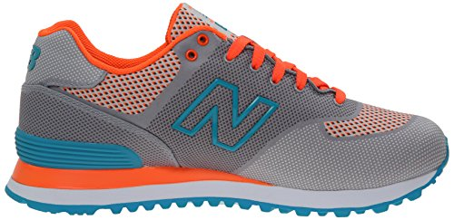 New Balance Womens WL574 Woven Collection Running Shoe Grey/Light Blue xS02k3I