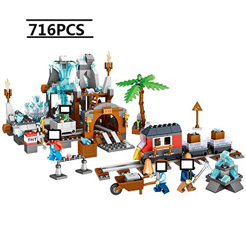 Best Quality 718 pcs minecrafted My Village DIY My World god Antonia Crystal Mine Building Blocks Compatible with legoingly