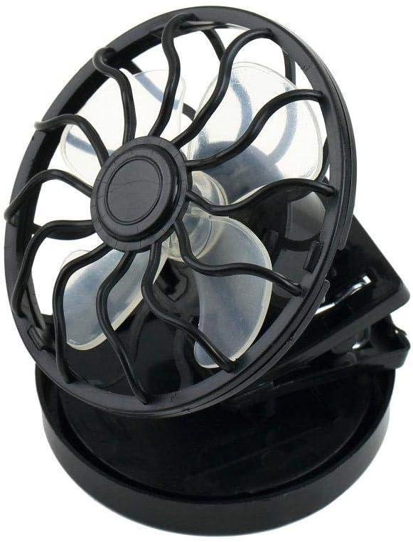 Clip-on Solar Cell Fan Sun Power Energy Panel Cooling//USB Cooler Desk Mini NW