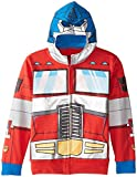 Transformers Big Boys' Optimus Prime Character Hoodie, Reds, X-Large