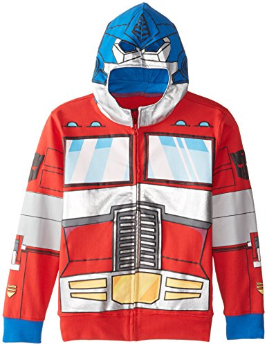 Transformers Big Boys' Optimus Prime Character Hoodie, Reds, Small]()