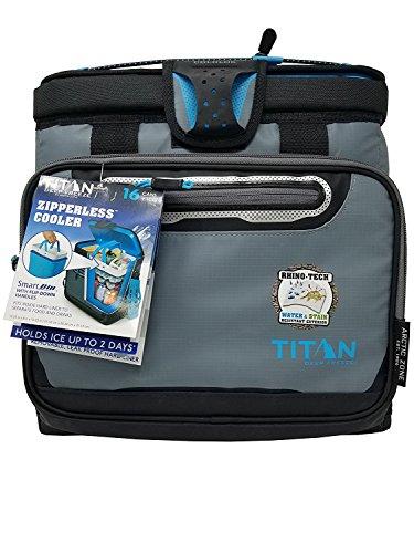 Titan Deep Freeze Zipperless Cooler Bag by Arctic Zone with Smart Bin - Gray by ArcticZone