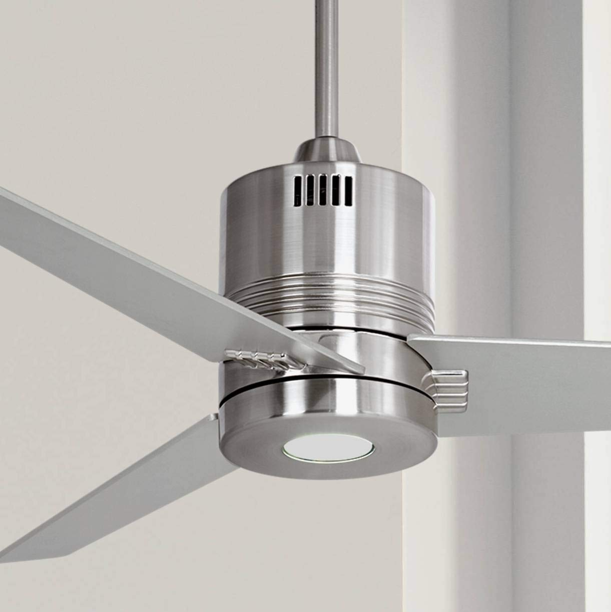 44 Casa Metro Modern Industrial Ceiling Fan with Light LED Remote Control Brushed Nickel for Living Room Kitchen Bedroom Dining – Casa Vieja
