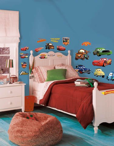 Roommates Stickers (Roommates Rmk1520Scs Disney Pixar Cars Piston Cup Champs Peel & Stick Wall Decal)