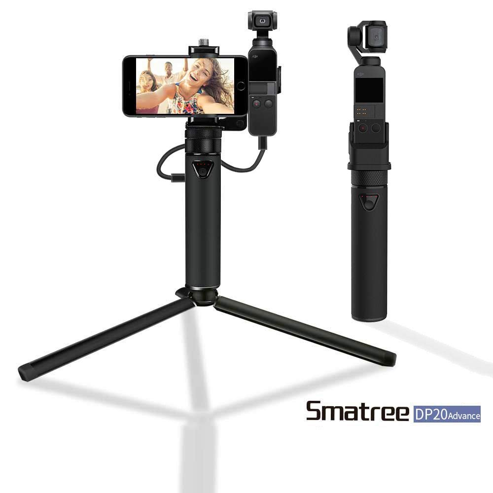 Smatree Portable Osmo Pocket PowerStick(Power Bank) Compatible for DJI Osmo Pocket,Handheld Smartphone Holder Mount Bracket with Tripod for Osmo Pocket Camera by Smatree