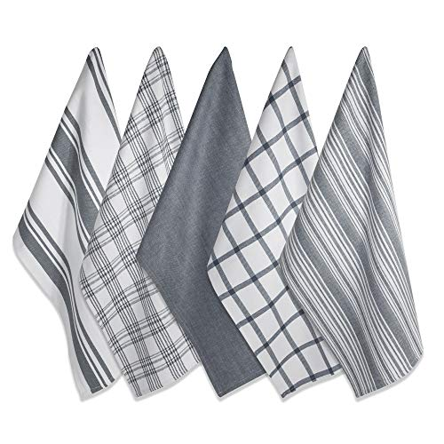 (DII Kitchen Dish Towels (Gray, 18x28