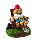 BigMouth Inc Couch Potato Garden Gnome, Funny 9-inch Tall Lawn Gnome Statue, Garden Decoration For Sale