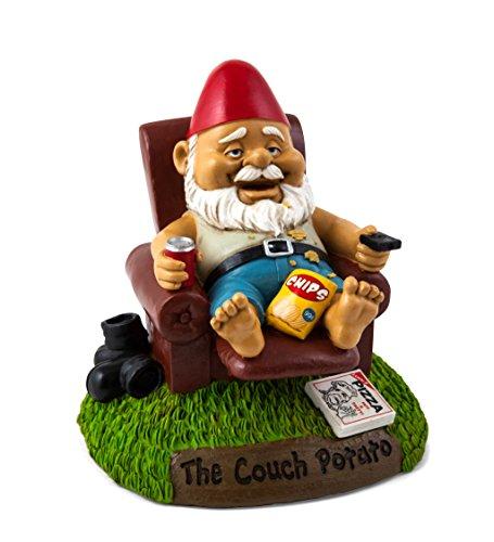 Cheap BigMouth Inc Couch Potato Garden Gnome, Funny 9-inch Tall Lawn Gnome Statue, Garden Decoration