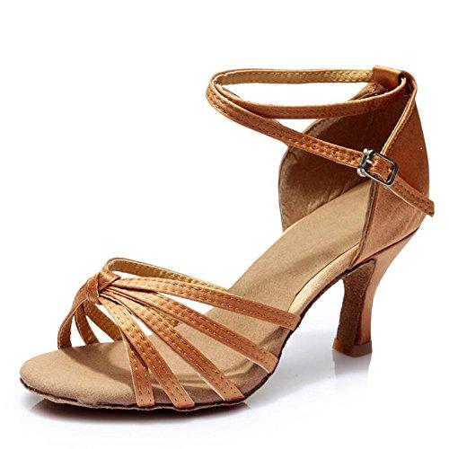 América Zapatos De Baile Zapatos De Baile Adulto Femenino Las Mujeres Con Zapatos De Cuero Blando En Adultos La piel una profunda7cm