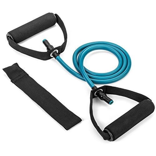 Tribe Single Resistance Band, Fitness Bands - with Door Anchor, Handles and Exercise Guide eBook - Your Perfect Workout Bands for Resistance Training, Physical Therapy, Home Workouts