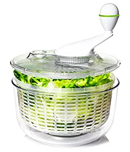 Art and Cook Large Salad Spinner, 5 quart, Green