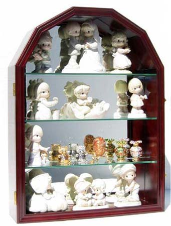 (Collector Display Case Wall Curio Cabinet Figurine Display Case (Mahogany) )