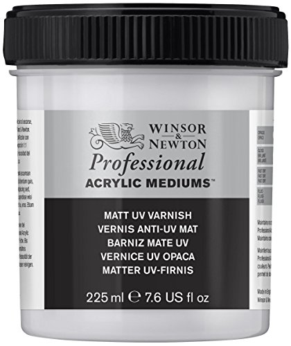 Acrylic Matt (Winsor & Newton Professional Acrylic Medium Matt UV Varnish, 225ml)