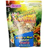 F.M. Brown Tropical Carnival Fruit and Nut Cockatiel Conure and Lovebird Pet Treat, 8-Ounce