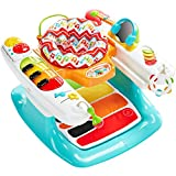 Fisher-Price Light and Sounds Step 'n Play Piano 4-in-1 Baby Entertainer, Playmat, Stationary Walker, and Toddler Activity Table