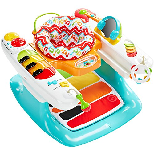Fisher-Price Light and Sounds Step 'n Play Piano 4-in-1 Baby Entertainer, Playmat, Stationary Walker, and Toddler Activity Table by Físher-Price