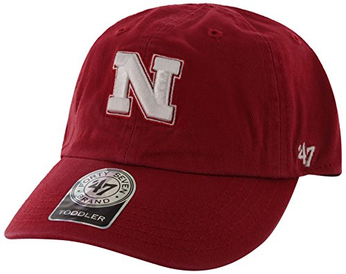 NCAA Nebraska Cornhuskers '47 Brand Clean Up Adjustable Hat, Red 1, One Size - Nebraska Cycling Jersey