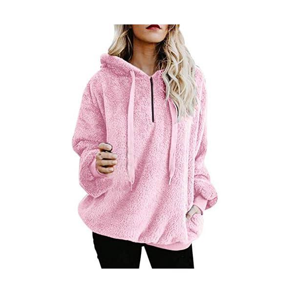 1e15d4d5bd5c36 ... ShirtsToamen Womens Coat Sale Ladies Warm Faux Wool Zipper Pockets  Hooded Pullover Sweatshirt Tops Outwear. 🔍. Blouses ...