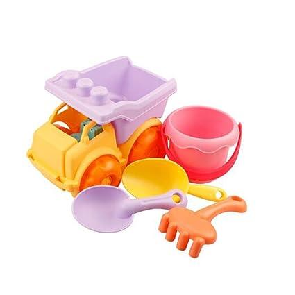 4pcs Mini Beach Toys Set Bucket Shovel Rake Beach Sand Play Toys for Kids an
