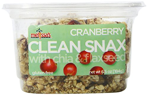 Melissa's Cranberry Clean Snax with Chia and Flax Seed, 6.5 Ounce