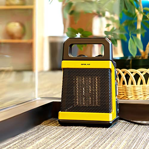 OPOLAR 1500W Ceramic Space Heater with Adjustable Thermostat, Fast Heating for Small and Middle Rooms, Office Floor, Desk or Other Indoor Space, Powerful and Portable, ETL Approved