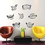 Housewares Wall Vinyl Decal Teeth Smile for Dental Clinic Home Art Decor Kids Nursery Removable Stylish Sticker Mural Unique Design for Any Room