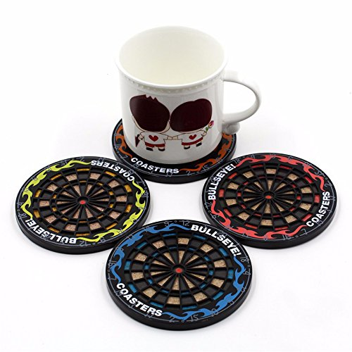 (Drink Coasters Unique Sets For Hot & Cold Beverage Use Best For Men And Women At Home & Office Or Wedding Party, Cute Cool Non Slip Round Beer Coasters Custom Coasters (Set Of 4))