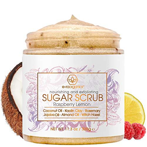 Era Organics Sugar Scrub Body Exfoliator – Spa Quality Sulfate Free Body Scrub with Food Grade Ingredients to Nourish…