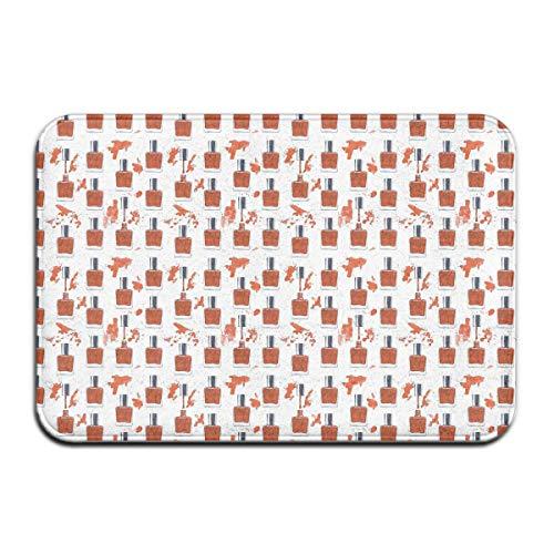 Red Nail Polish Printing Doormat Cozy Indoor Rugs Non-Slip Rubber Doormat for Bathroom Kitchen Living Room Home -