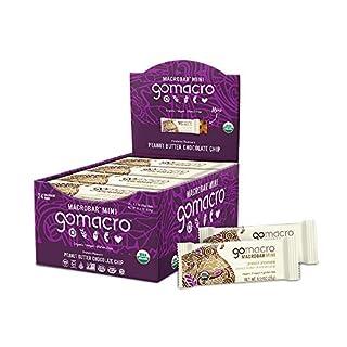 GoMacro MacroBar Mini Organic Vegan Snack Bars - Peanut Butter Chocolate Chip (0.9 Ounce Bars, 24 Count)